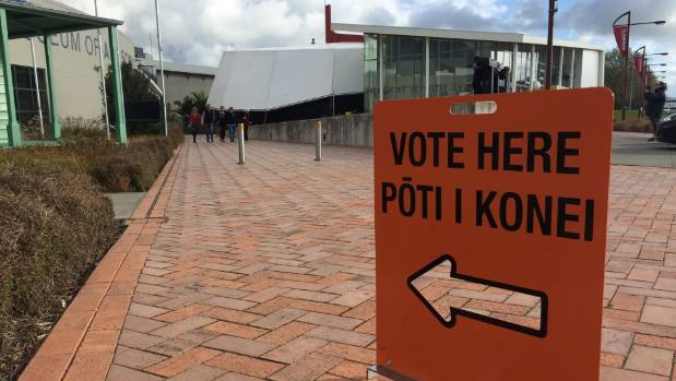 Voting booths turn quiet in central palmerston north for Trade show poll booth
