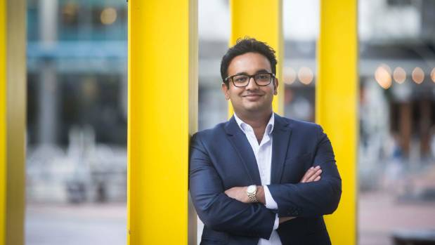 Hamilton West Labour candidate Gaurav Sharma. He's up against National incumbent Tim McIndoe in the most bellwether ...