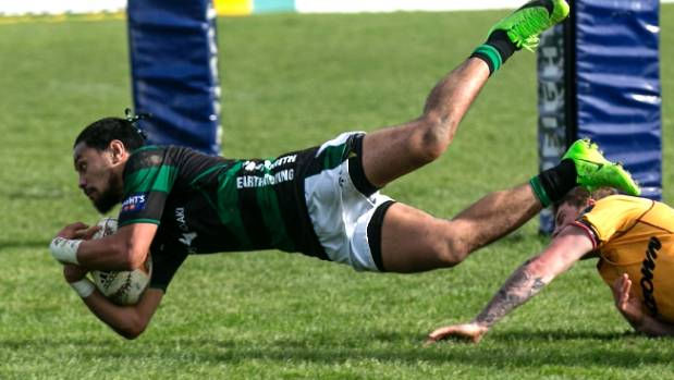A hat trick to South Canterbury wing Kalavini Leatigago help sink North Otago in their Heartland Championship clash in ...