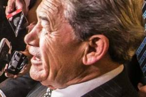 NZ First leader Winston Peters holds court at the Duke of Marlborough. He leaves his campaign party the kingmaker.