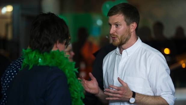 Greens Palmerston North candidate Thomas Nash was happy about the swing to the left after the special votes were counted.