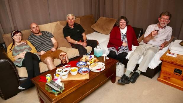 Heather Warren spent election night in Marton with supporters, including husband Bevan Hobman.