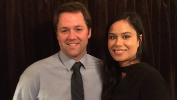 National's new Clutha Southland MP Hamish Walker and his partner Penny Tipu.