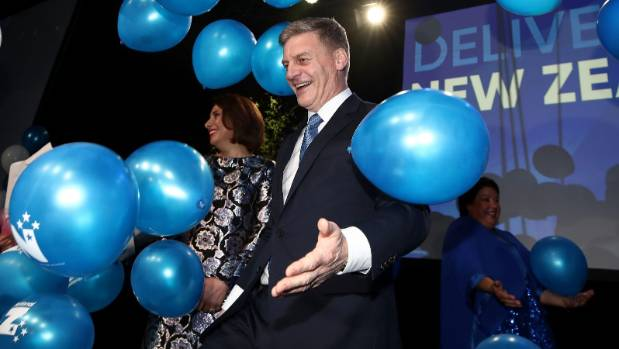 Support for Bill English and the National Party held firmer in Auckland than in other parts of the country.