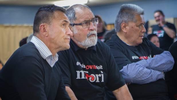 Te Tai Hauauru Maori Party candidate Howie Tamati with supporter Jack Niwa