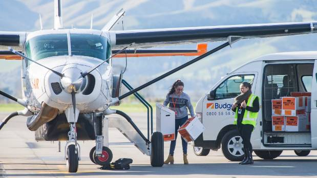 Sounds Air  transported ballot boxes from Kaikōura to Blenheim on Sunday morning.
