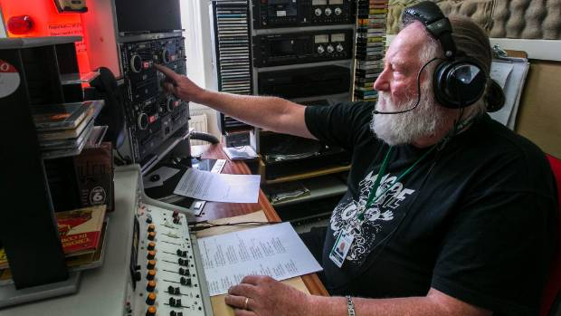 Hospital Radio announcer Ron Parmenter broadcasts live in the studio on Sunday