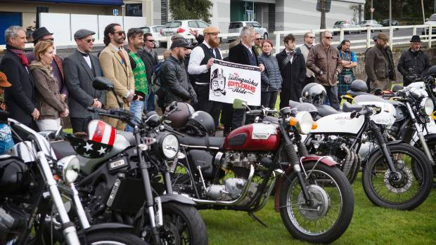 Motorcyclists in tweed ride for men's health in Lafayette