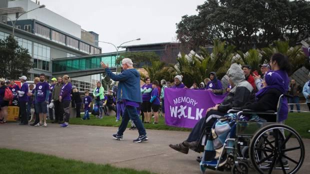 A memory walk for Alzheimer's Disease arriving at the Puke Ariki landing on Sunday.