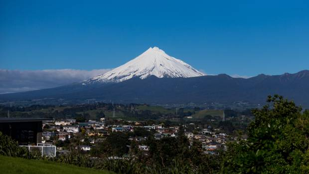 Four young people who went for a walk on Mt Taranaki on Sunday got into difficulty and called for help.