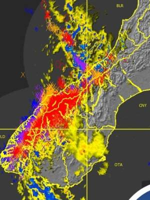 Ten thousand lightning strikes were recorded in two hours on Monday morning.