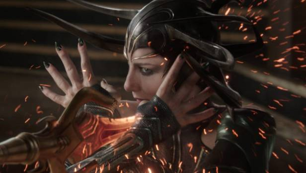 "Cate Blanchett plays Thor: Ragnarok's ""big bad"" Hela."