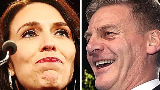 Labour leader Jacinda Ardern and National leader Bill Englich are both courting New Zealand First to form a coalition ...