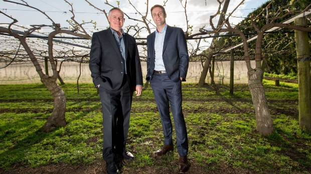 Zespri chairman Peter McBride and newly appointed CEO Dan Mathieson.