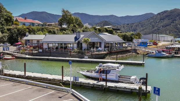 The Slip Inn Cafe at Havelock in the Marlborough Sounds.