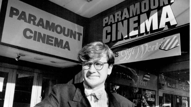 Nicholas Peren, managing director of arts promotion company Paragon Arts, outside the Paramount in August 1990, shortly ...