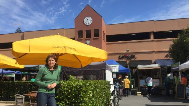 Miriam Clark, manager of Nelson Farmers Market, in Morrison Square.