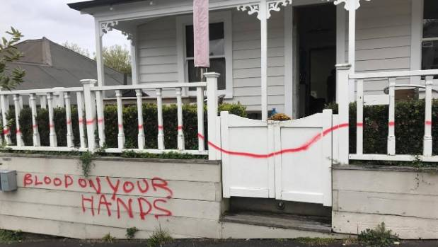 Johannes Tietze's home was targeted by taggers after Saturday's election.