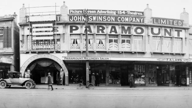 The Paramount Theatre in Wellington's Courtenay Place was built in 1917.