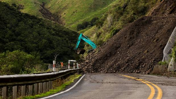 The NZ Transport Agency has released 13 options for permanent alternative routes to State Highway 3 through the Manawatū Gorge, which has been closed since April 24th. — Photo: David Unwin/Fairfax NZ.