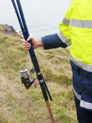 The man's fishing rod was found where he was last seen at Papanui Pt.