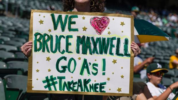 A fan's homemade sign said it all in Oakland.
