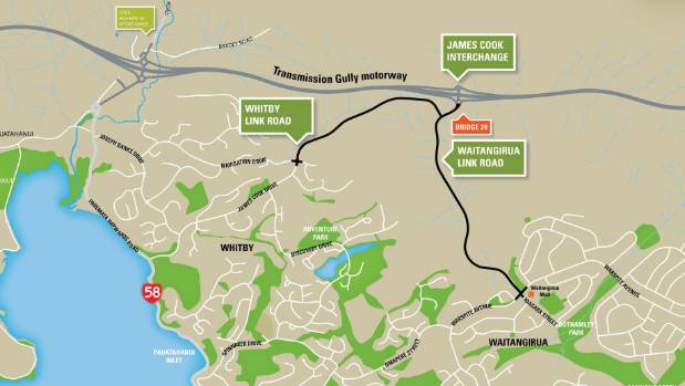 The Whitby and Waitangirua Link Roads that will connect Porirua with the big Transmission Gully project.