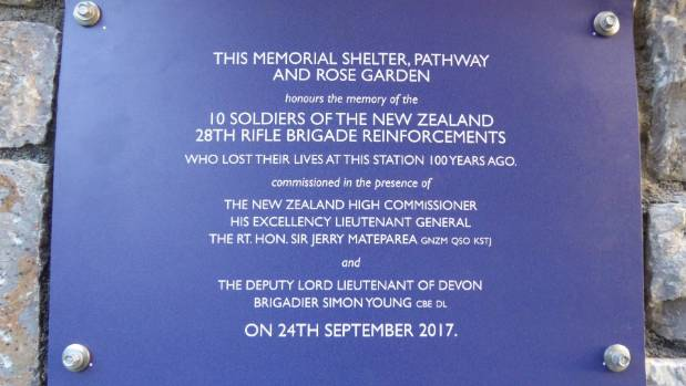 A new memorial plaque was dedicated to the memory of the ten New Zealanders.