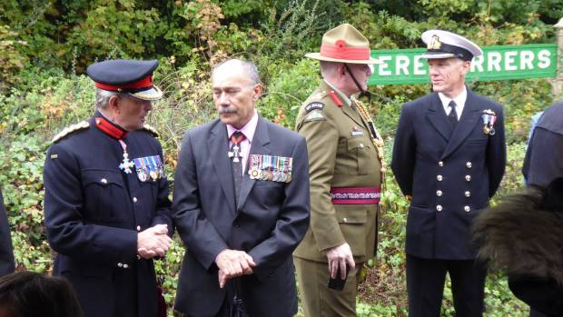 Brigadier Simon Young, Deputy Lord Lieutenant of Devon, High Commissioner to Britain Sir Jerry Mataparae, Brigadier Evan ...