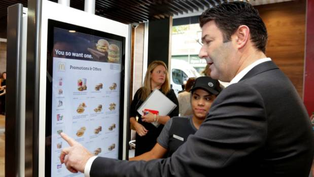 McDonald's introduced self-service kiosks to its restaurants in 2015.