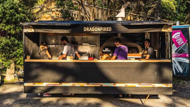 Woodfired goodness: Dragonfired pizza cart