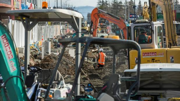 Stage two work along Queen St in July.