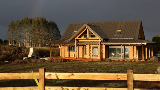The House Was Built Using 80 Freshly Cut Douglas Fir Trees From The  Kaingaroa Forest.
