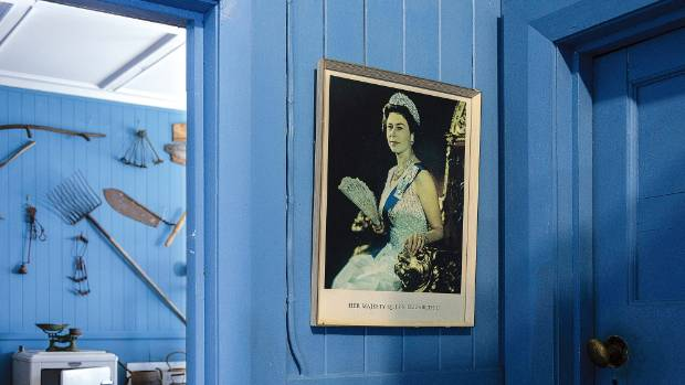 Her Majesty makes an appearance at Kawhia's museum.