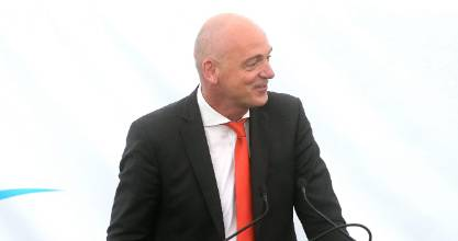 Fonterra CEO Theo Spierings has achieved a three-year earnings target in two years.