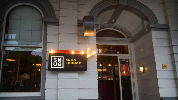 New Plymouth's Snug Lounge was evacuated on Friday night after a prankster set off a fire alarm.