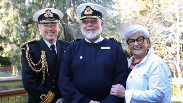 Chief of Navy Rear Admiral John Martin, left, appointed  Leachman to the position of Honorary Captain for the Royal New ...