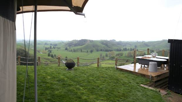 The site includes expansive views in every direction, including views of Mt Pirongia.