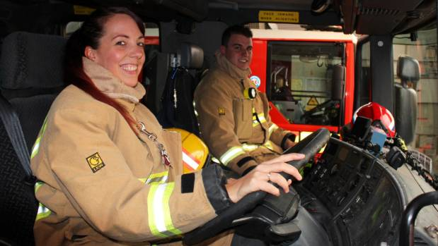Love bloomed over fires, accidents and helping people for Sarah and Daniel Capon.