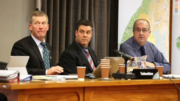 Federated Farmers representatives speak to their submission on the Proposed Southland Water and Land Plan at Environment ...