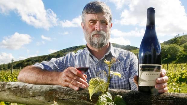 Nick Dymock, co-owner of the Pohangina Valley Estate vineyard.