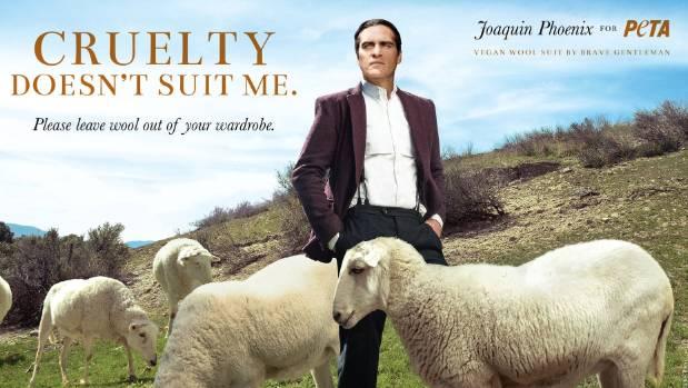 Joaquin Phoenix will not wear a wool suit.