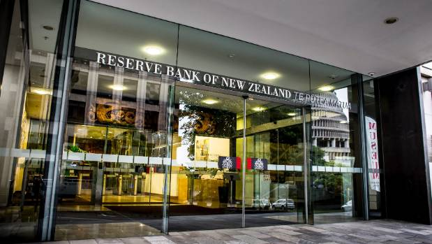 The entrance to the Reserve Bank in Wellington.