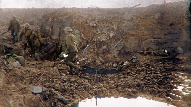 A scene from the frontlines of Passchendaele. Mud was a real problem on the battlefied and in the trenches.