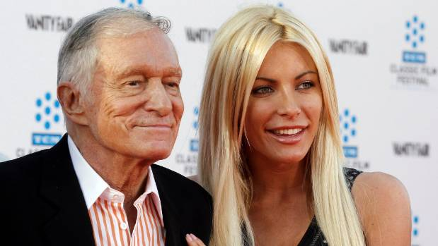 Hugh Hefner and his fiancee, Playboy Playmate Crystal Harris, at the opening night gala of the 2011 TCM Classic Film ...