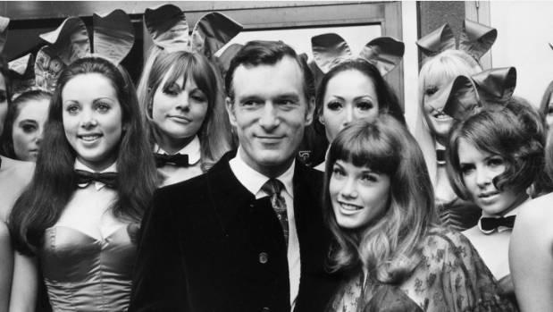 Hugh Hefner and his Playboy bunnies.