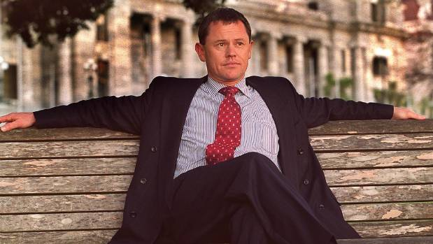 Simon Upton, Minister for the Environment in the National Government, outside Parliament in 2000.