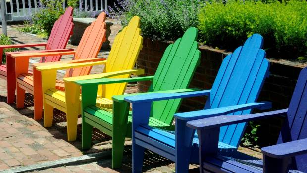 A Brightly Painted Adirondack Or Cape Cod Chair Is Right On Trend This Year.