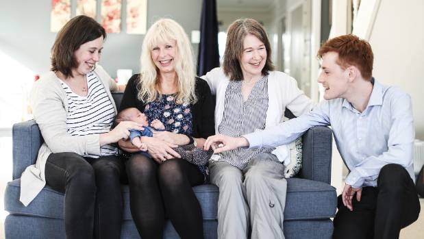 Dr Lauder also delivered mum Abigail's brother Joe (right) 23 years ago, and two older siblings, the children of new ...