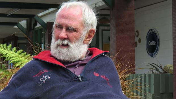 Roy Arbon outside of the Greymouth library following his return to the West Coast.